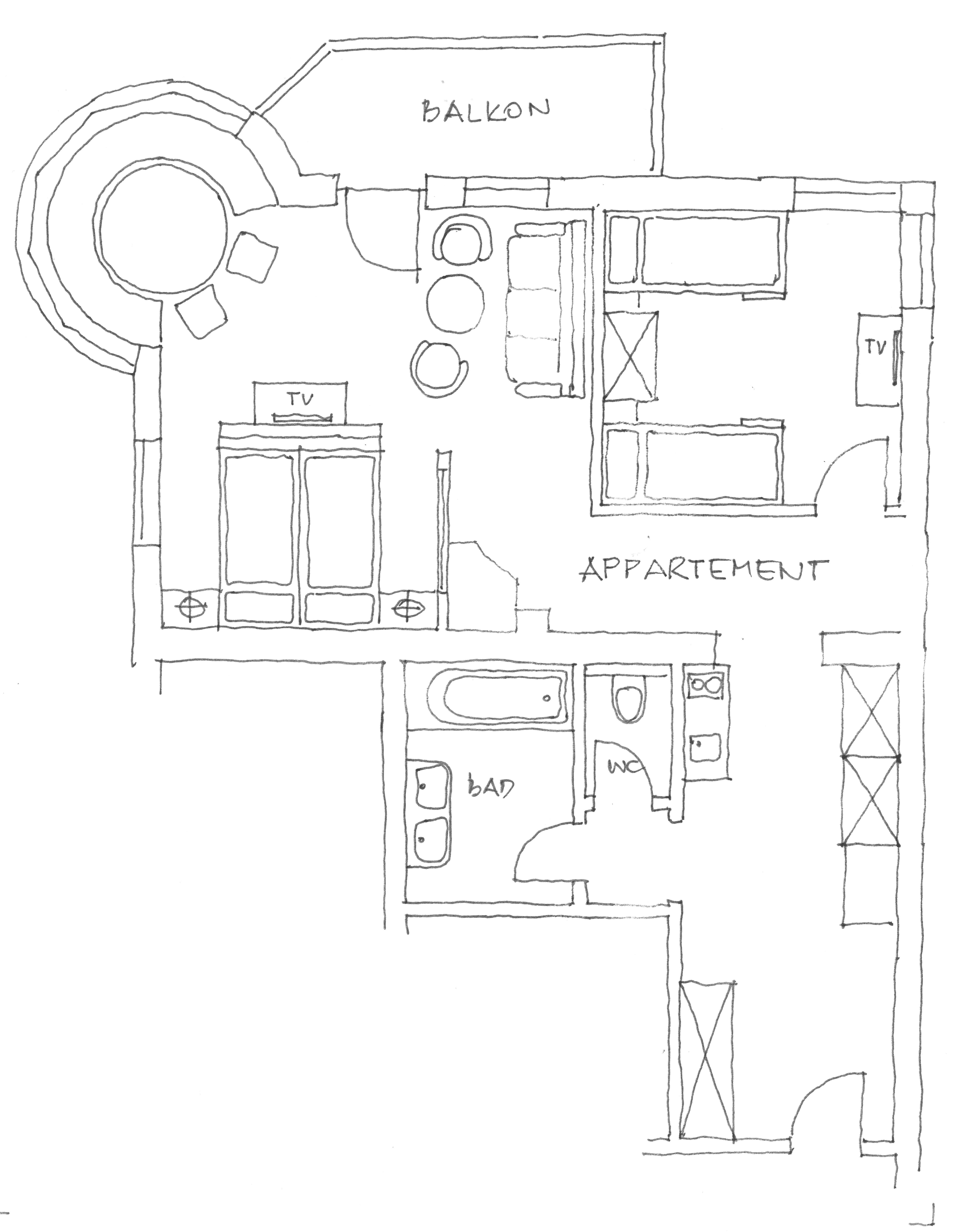 Plan Apartment Wilder Kaiser