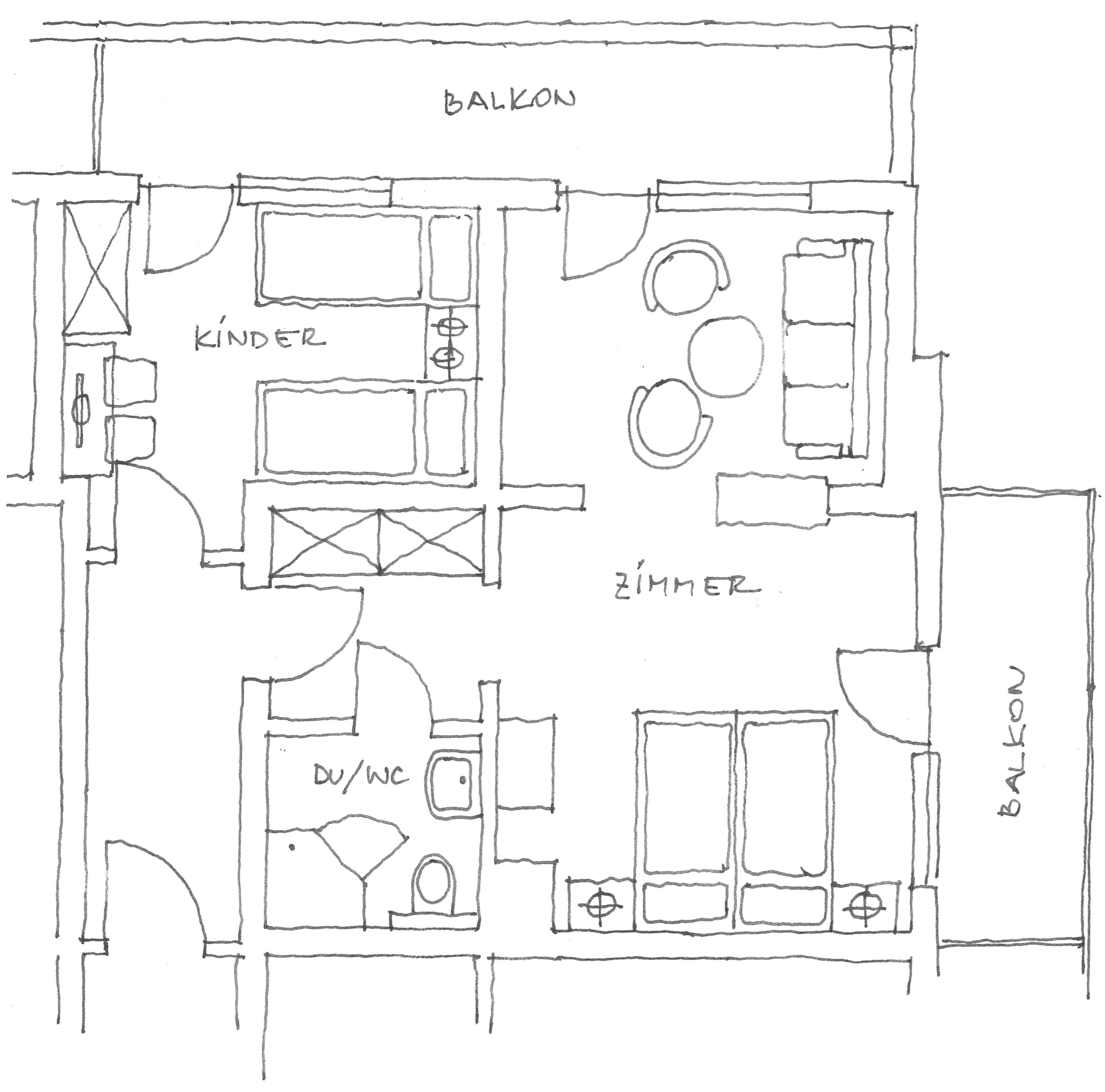 Grundriss Studio Roßkopf Landhotel Tirolerhof