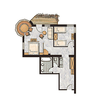Grundriss Appartement Wilder Kaiser
