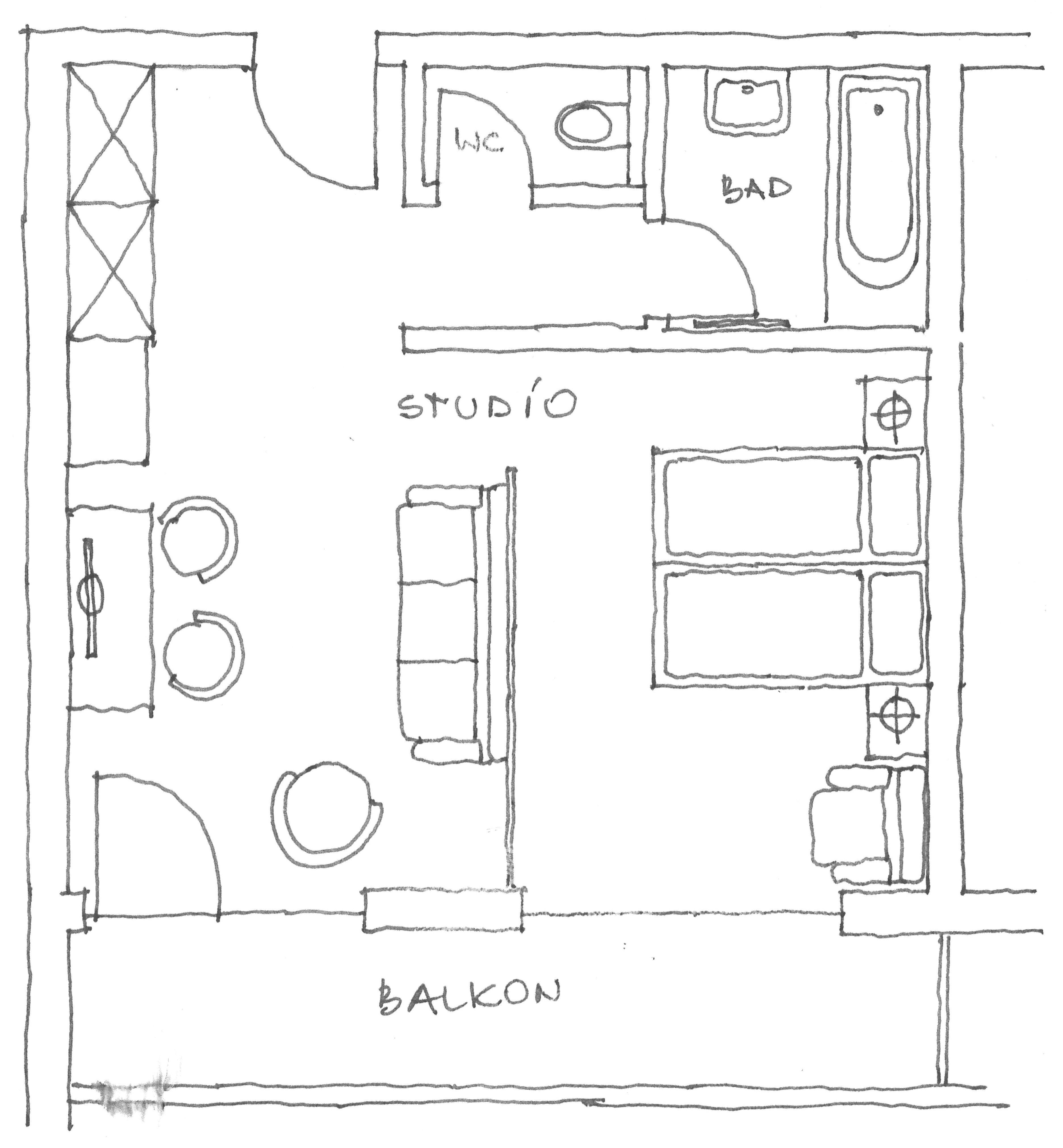 Grundriss Studio Schatzberg im Landhotel Tirolerhof