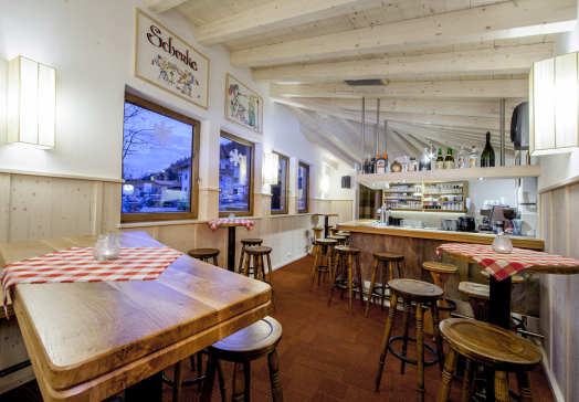 Our Stadl-Bar is the perfect place for a Glühwein in winter