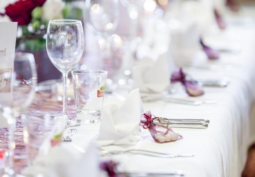 Auch für Hochzeiten ist unser Restaurant ausgezeichnet geeignet