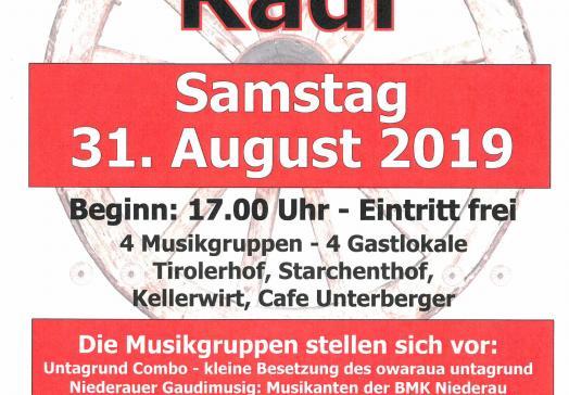 Plakat Oberauer Musikanten Radl