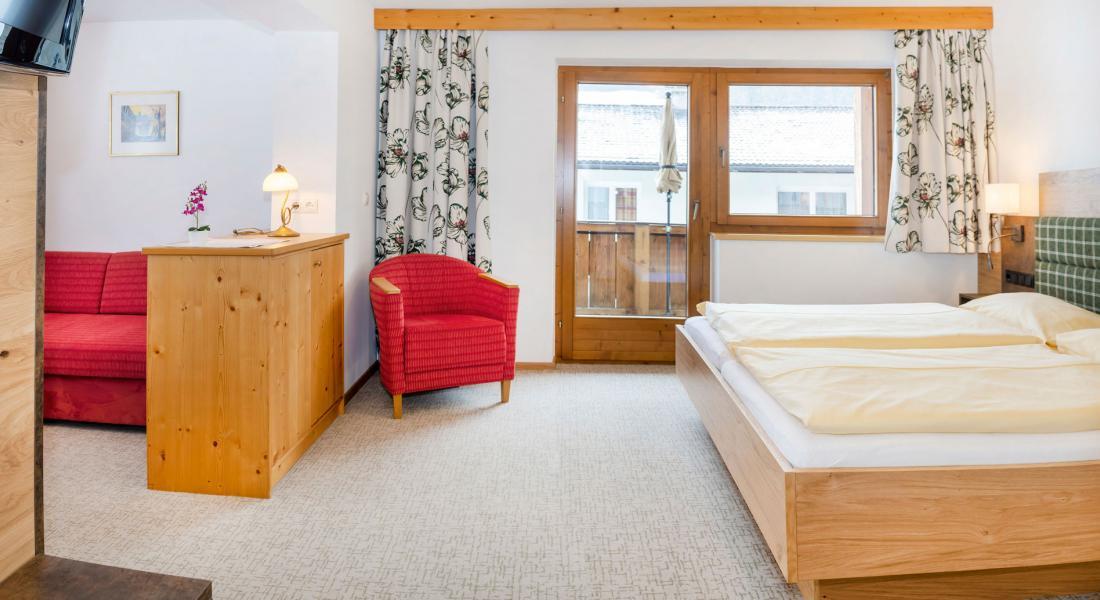 Separate rooms in the Studio Rosskopf in the Hotel Tirolerhof