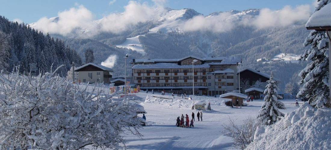 Eine tolle Winterkulisse rund um das Landhotel Tirolerhof